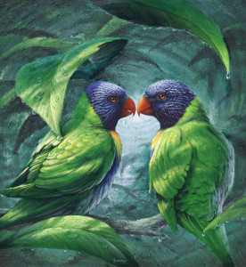 First Kiss, painting by Murray Charteris