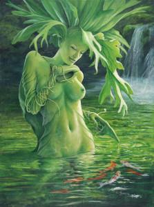 Athyrium's Pond - painting by Murray Charteris
